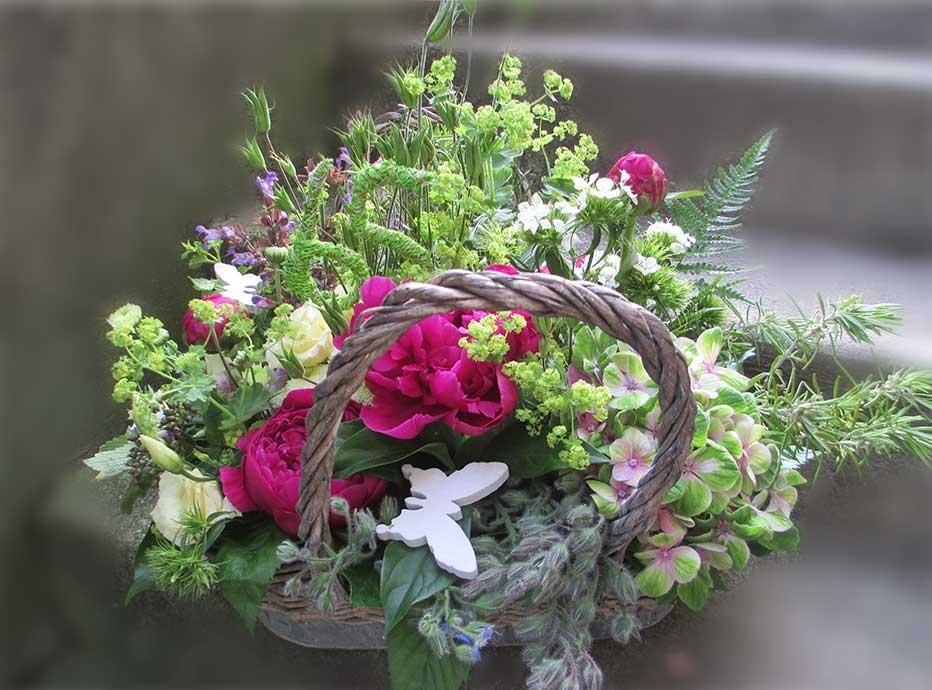 Geburtstags-Blumen-Korb
