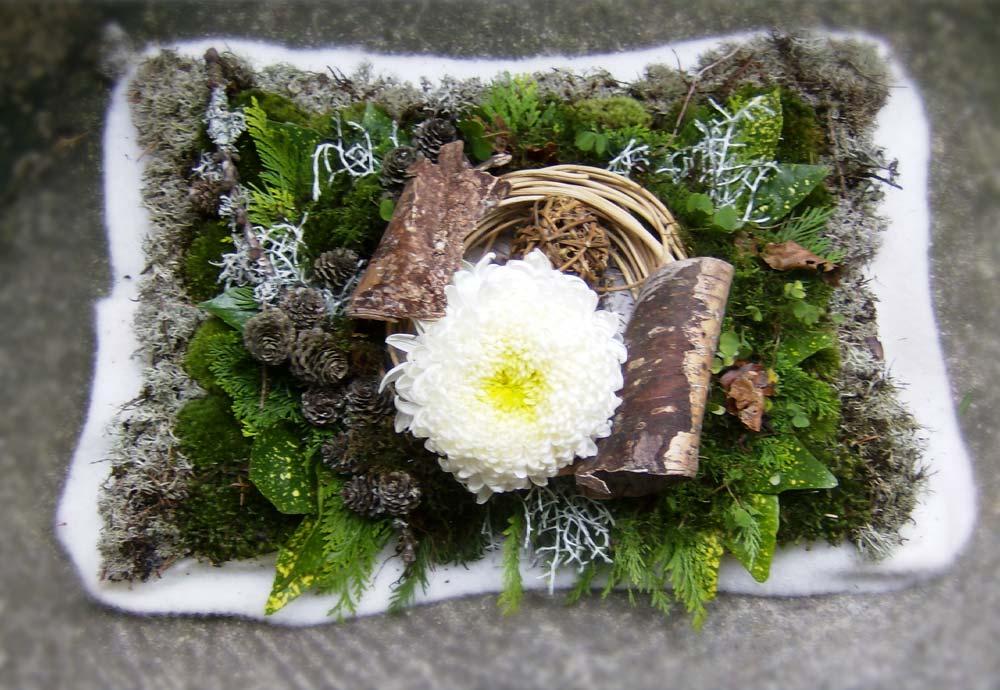 Winterkissen mit Dekochrysantheme