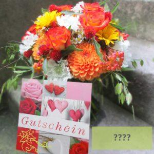 """Blumen-Gutschein """"Happy Birthday""""von Blueme & Gschänk Chäller"""